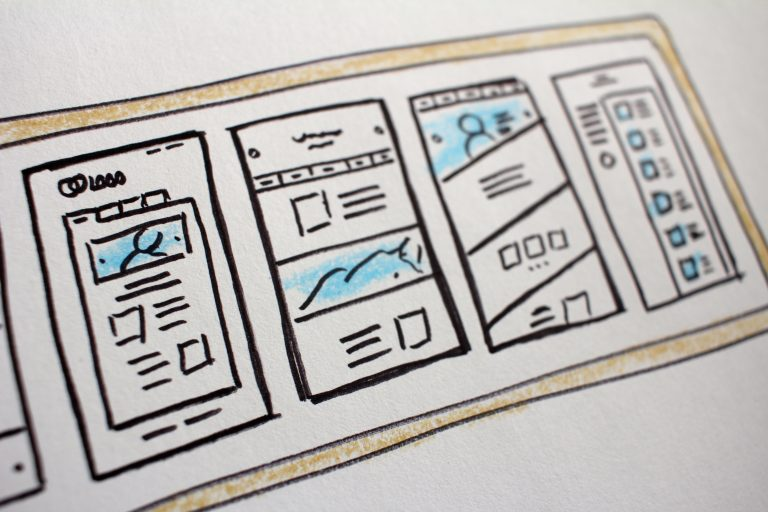 drawn plan for a website update